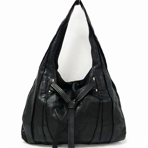 Kooba Black Leather Hobo Bag